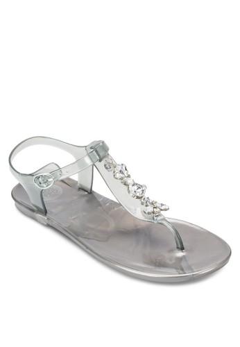 Caesprit 香港 outletnnes 閃鑽夾趾涼鞋, 女鞋, 鞋