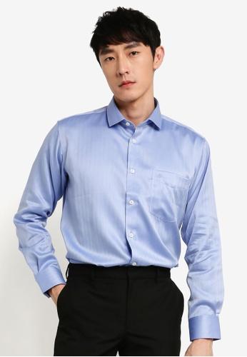John Master blue John Master Men Timeless Regular Fit Long Sleeve Shirt - Dark Blue 7078902-L6 7796EAA7D9349FGS_1