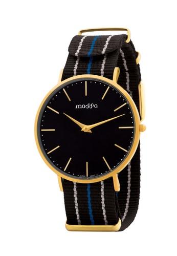 Massa Collections multi Grace Female Black Gold w/ Black Nato Quartz Watch BF01FACC5A084CGS_1