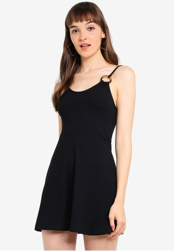 3e6d88213884 Buy TOPSHOP Petite Horn Ring Flippy Dress Online on ZALORA Singapore