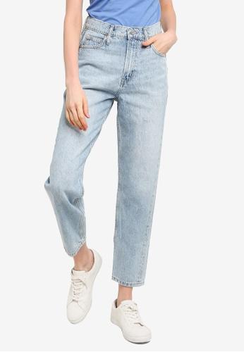 GAP blue Mom Bleach Thomas Jeans 3AE15AA0BC2E19GS_1