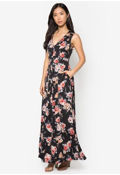 Collection Printed Evening Maxi Dress