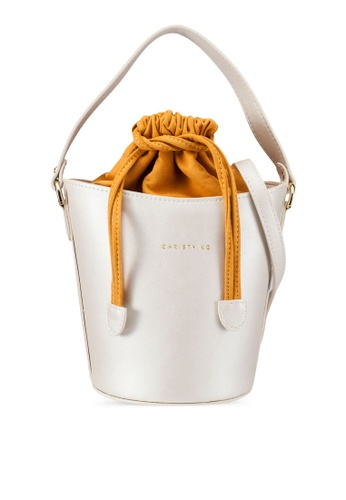 Christy Ng beige Scarlet Bucket Bag CH330AC0S4X2MY_1