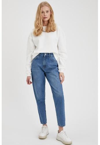 DeFacto blue High Waist Mom Jeans E8972AA06FEAFFGS_1