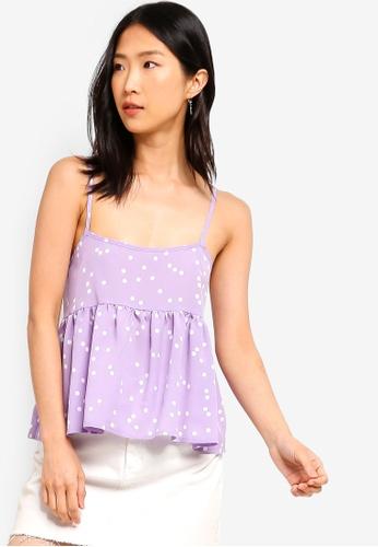 ZALORA BASICS purple and multi Basic Cami Top 021E0AA7BF243AGS_1