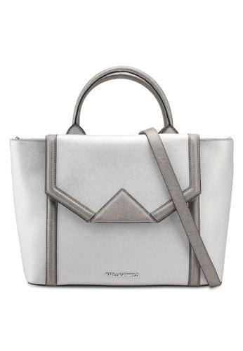 KARL LAGERFELD silver K/Klassik Flap Tote Bag KA533AC0SDALMY_1