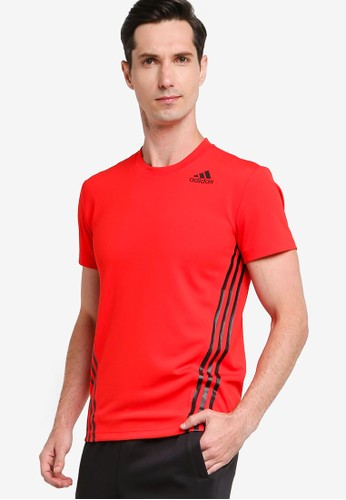 ADIDAS red aeroready 3s tee FE6FBAA6B7B4F0GS_1