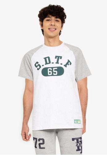Superdry 灰色 Track & Field Raglan T-襯衫 BE685AA2909D83GS_1