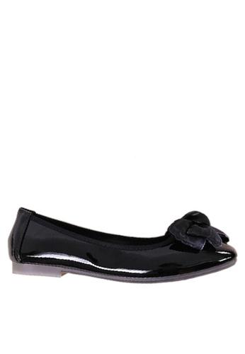 Twenty Eight Shoes 黑色 舒適雙色蝴蝶平底鞋 VL266108 497C0SH0DFA7A2GS_1