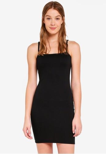 Cotton On black Kimi Straight Neck Bodycon Mini Dress 6B1E7AA6F3C9A7GS_1