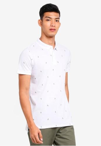 Cotton On 白色 印花POLO衫 404CEAA8037CBBGS_1