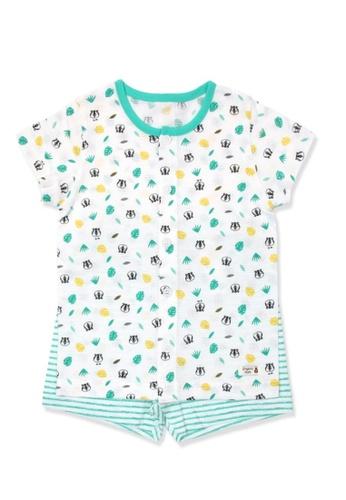 Organic mom green Organic Cotton Lucas Tiger Pajamas 254C8KA4A25C85GS_1