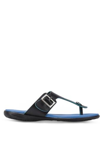 Le Sandee black Comfy Sandals LE906SH68EMHMY_1