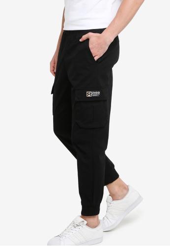 361° black Sports Life Casual Pants 1C970AA03FB1B0GS_1