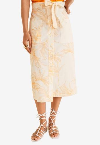 ed747ea76c87 Shop Mango Printed Midi Skirt Online on ZALORA Philippines