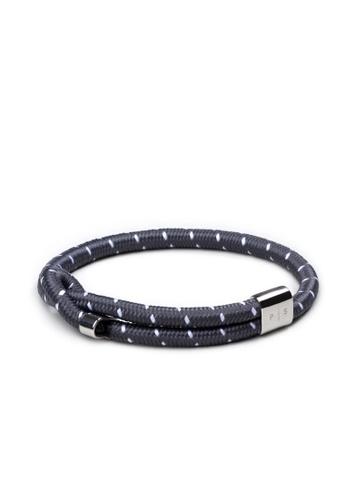 PLAIN SUPPLIES grey and silver Wve Bracelet — Grey Rope 247A4AC95B6C39GS_1