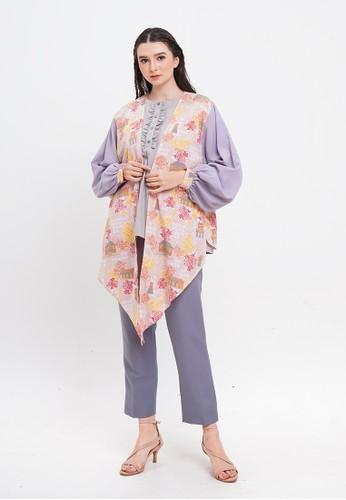 Taruni pink and lilac purple SHORT OUTER TARUNI ARDELIA MIRACLE HISTORY PINK AFB92AA5903FACGS_1