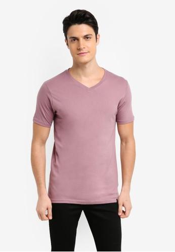 Factorie purple The Legacy Vee T-Shirt 3C0B2AA338C826GS_1