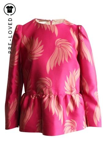 Dries Van Noten pink Pre-Loved dries van noten Print Textured Shirt 76AACAAF485D7EGS_1