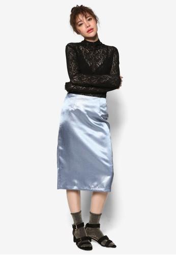 韓系時尚蕾絲高zalora 手錶 評價領長袖衫, 服飾, 上衣