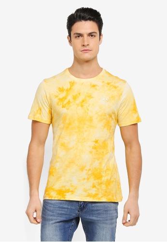 JAXON yellow Hawaii Tie Dye Tee 76DB5AAF3ECF68GS_1