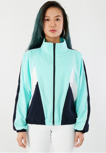 Corenation Active white and green and navy Celica Jacket - Mint / Navy / White 40D86AAE594737GS_1