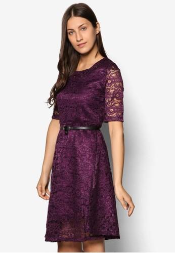 蕾絲腰帶洋裝, 服飾esprit au, 洋裝