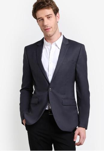 Topman grey Grey Skinny Fit Suit Jacket TO413AA71LQIMY_1