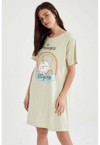 DeFacto green Woman Homewear Knitted Dress DEAAAAA21E5F36GS_1