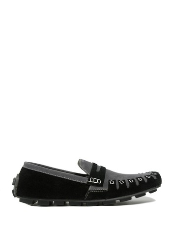 Dr. Kevin black and grey Dr. Kevin Mens Casual Slip-On 13311 - Black/Grey DR982SH0USA0ID_1