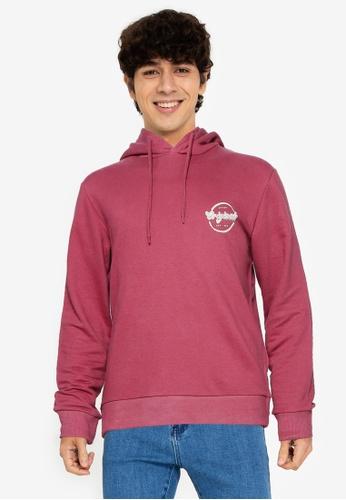 Jack & Jones pink Brian Sweat Hoodie 629F5AA3134B80GS_1