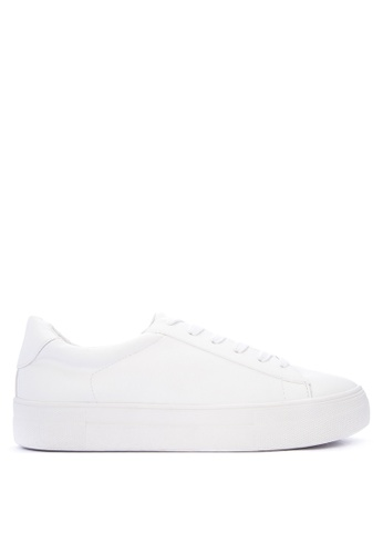 Steve Madden white Giselayfa1 Leather Lace-up Sneakers C335FSHC33339EGS_1