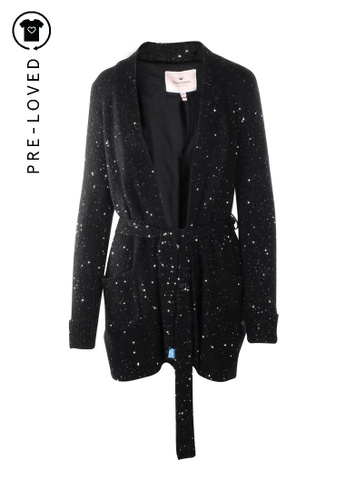 Juicy Couture black Pre-Loved juicy couture Sequins Long Cardigan 9D384AAB98FD38GS_1