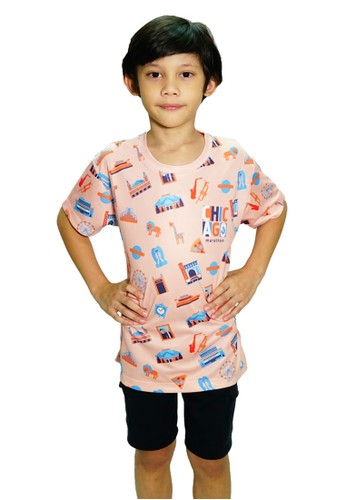 Trijee pink and orange Trijee Kids Marathon Series Chicago - Peach 47494KA1B85139GS_1