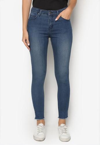 Skinny Jeans with Frayed Hem、 服飾、 俏皮男孩風PenshoppeSkinnyJeanswithFrayedHem最新折價