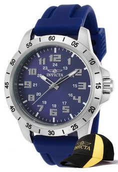 Pro Diver Men 45mm Case Watch 21836 with FREE Baseball Cap