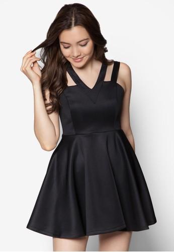 雙肩帶傘狀洋裝zalora taiwan 時尚購物網, 服飾, 洋裝
