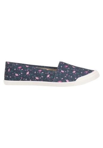 Beira Rio multi and navy Multi Floral Print Slip On Sneaker MO996SH01EVMHK_1