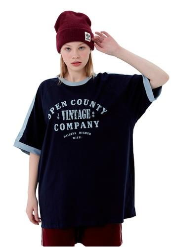 Twenty Eight Shoes College Vintage Contrast Stitched T-shirt HH1053 DBFC4AA2D1D894GS_1