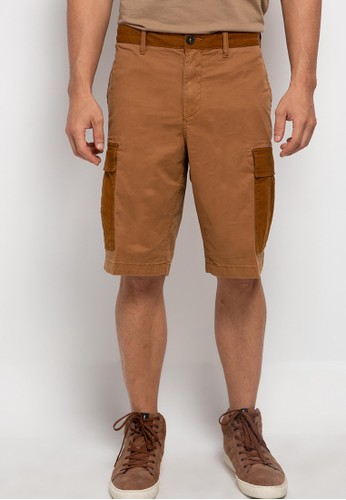 Timberland brown Timberland Men Relaxed Mix Media Cargo Short-TB0A2CXW932 A4FA6AA81CEFD8GS_1