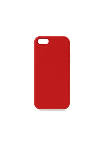 MobileHub red iPhone 5 / 5s / SE Silicone Cover Soft Case Rubberized Finish (Red) B61A8AC47AEC70GS_1