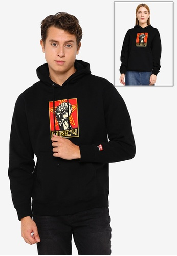 OBEY black Obey Fist 30 Years Hoodie 9736FAA04FA28AGS_1