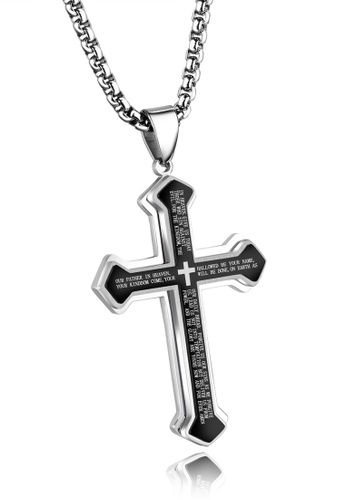 Trendyshop black Cross Pendant Necklace DAD9CACCF01294GS_1