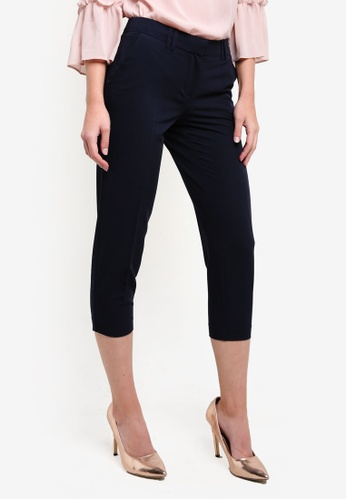 Dorothy Perkins navy Petite Navy Naples Ankle Trousers DO816AA0RV4XMY_1