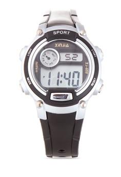 Kid's Black/Silver Plastic Strap Watch XJ-859