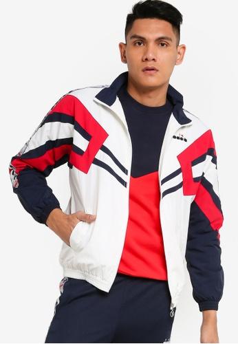 Diadora white Mvb Track Jacket F0F64AA36E7EDAGS_1