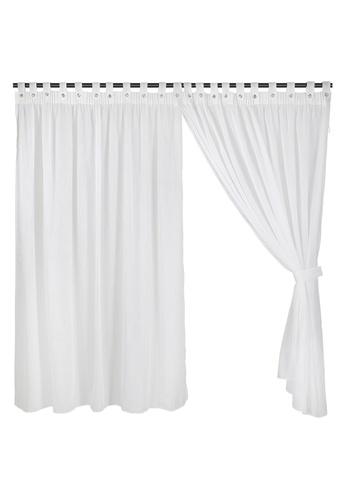 Eurotex Eurotex, Full Length Ready Made Curtain, Sheer, Off White (1 Piece) 03C1FHL395C0A4GS_1