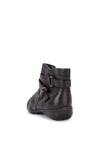 5a108e1af6b2 Shop MARKS   SPENCER Wide Fit Leather Wedge Ruched Ankle Boots Online on  ZALORA Philippines