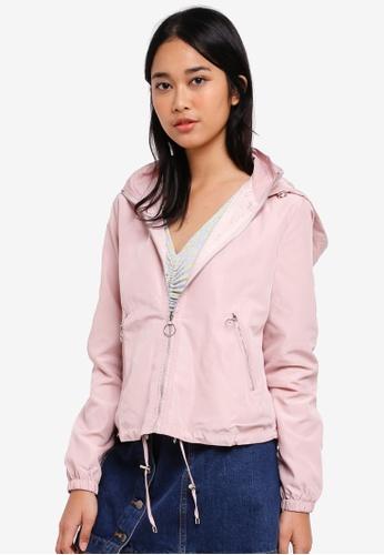 Something Borrowed pink Nylon Jacket With Hood 0BC67AAAF67D0CGS_1