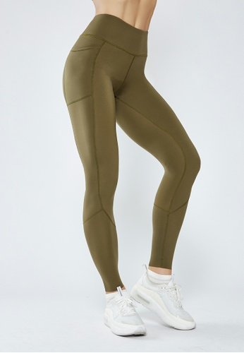 HAPPY FRIDAYS High Waisted Stretch Sport Tights QF1903 C9279AA37D8D66GS_1
